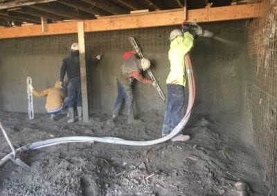 shotcrete basement stabilization